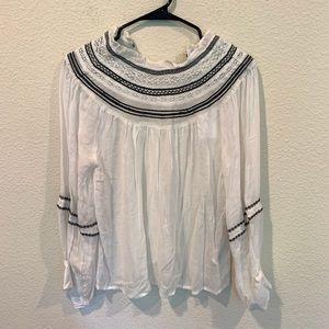 NWT H&M smocked boho blouse